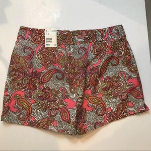 NWT H&M Paisley Women's Shorts Size 12